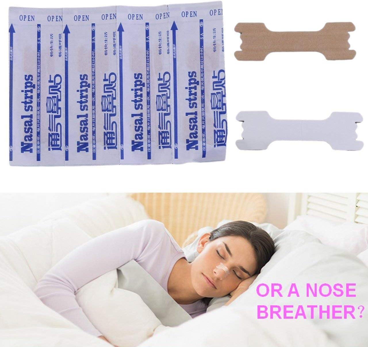 fFRtprintse 50pcs Grande Respiration bandelettes nasales Droit Chemin pour arr/êter de ronfler Bandes Anti ronflement Plus Facile Respirer Dormir Soins de sant/é Humaine
