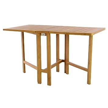 Schon DIVERO GL05527 Klapptisch Balkontisch Gartentisch Esstisch Holz Teak Tisch  Für Terrasse Balkon Wintergarten Witterungsbeständig Behandelt Massiv
