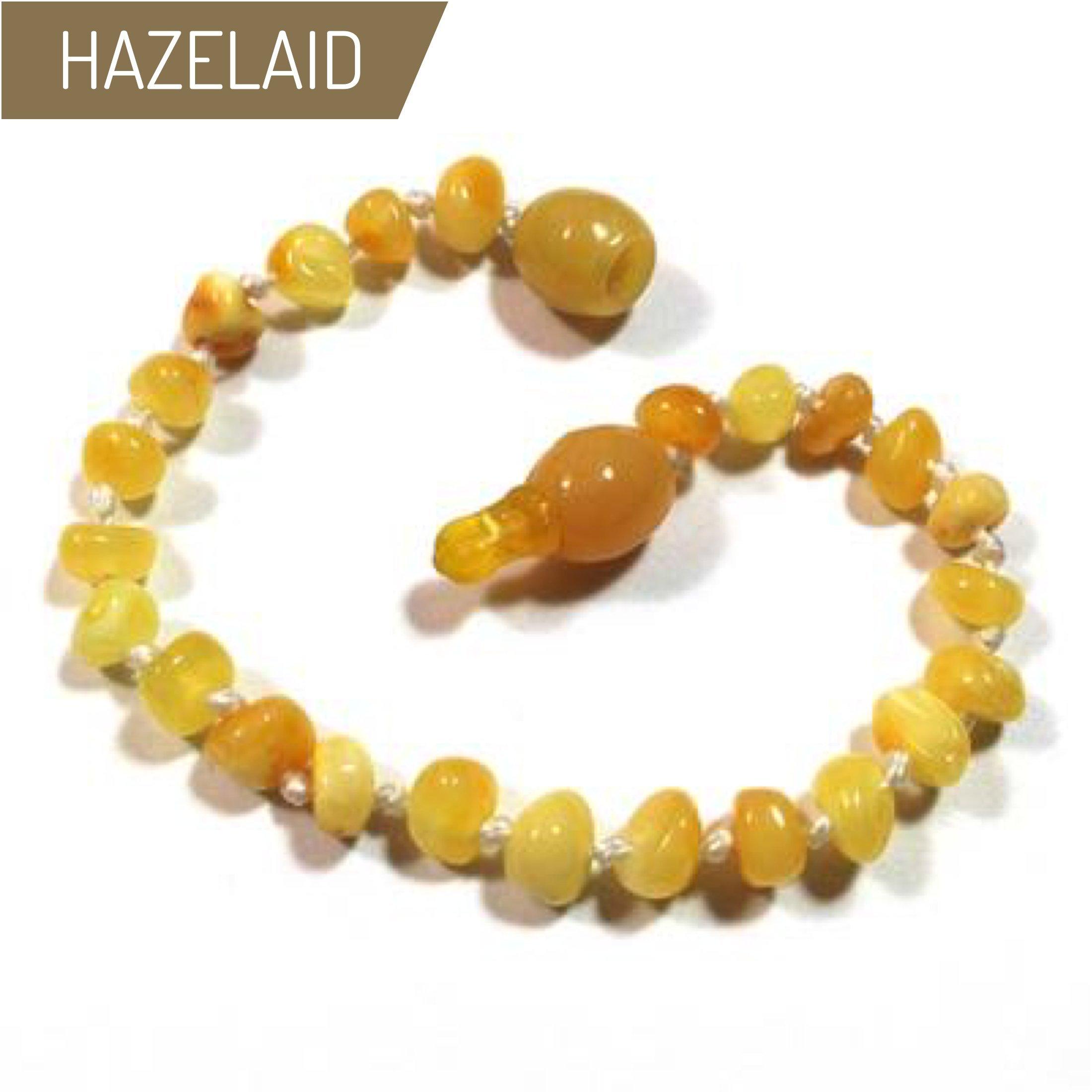 Hazelaid (TM) 5.5'' Pop-Clasp Baltic Amber Milk & Butter Bracelet