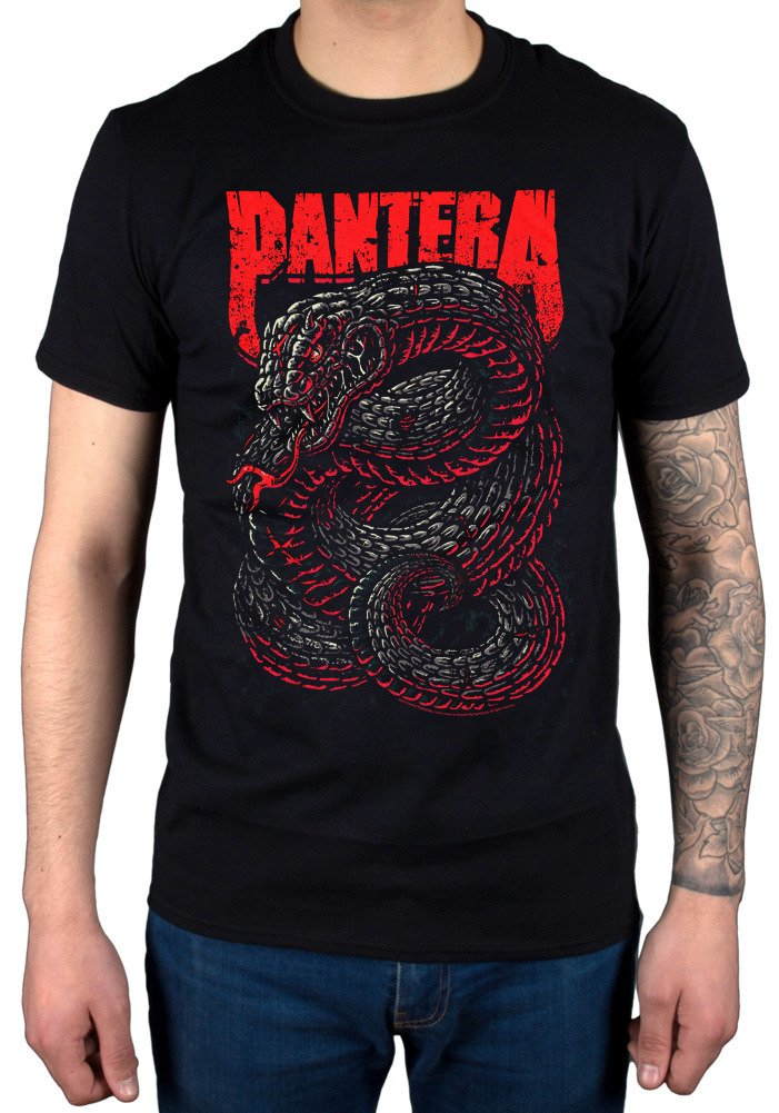 S Pantera Venomous Snake Tshirt Band Heavy Metal Rip