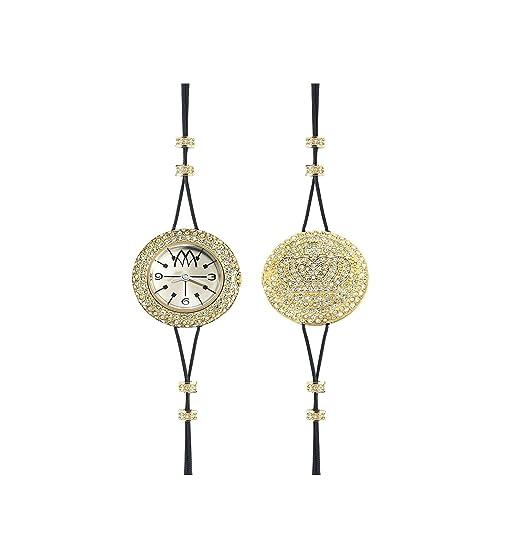 Joya Reloj Marco mavilla Pepito Reversible Corona Acero PVD gold cristales prc03gd €290: Amazon.es: Relojes