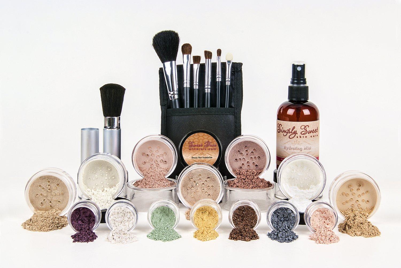ULTIMATE KIT (LIGHT) Full Size Mineral Makeup Set Matte Foundation Kit Bare Face Sheer Powder Cover