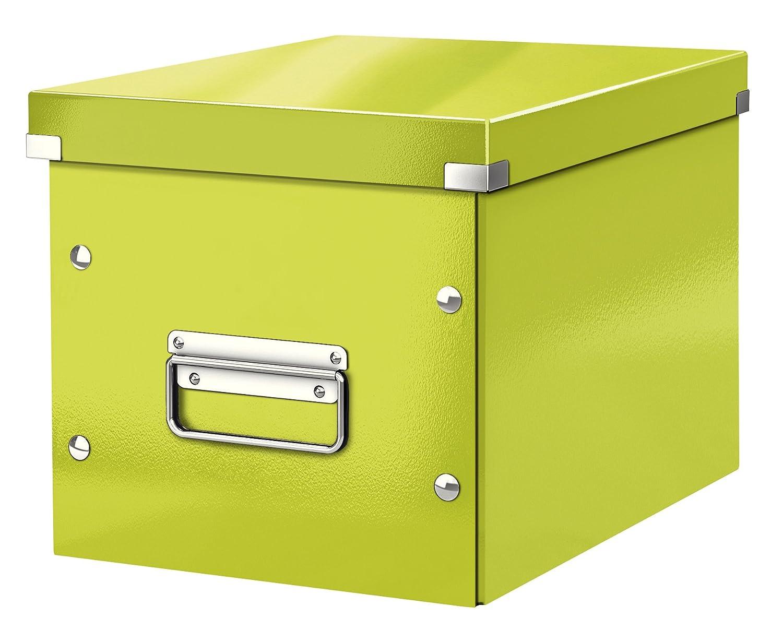 Leitz Caja de almacenaje cúbica, Tamaño mediano, Verde, Click & Store, 61090064: Amazon.es: Oficina y papelería
