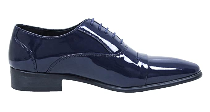 amazon scarpe eleganti blu vernice