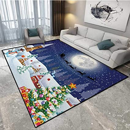Christmas Area Rugs 8 X 10.Amazon Com Anhounine Christmas Safcord Carpet Cord Cover