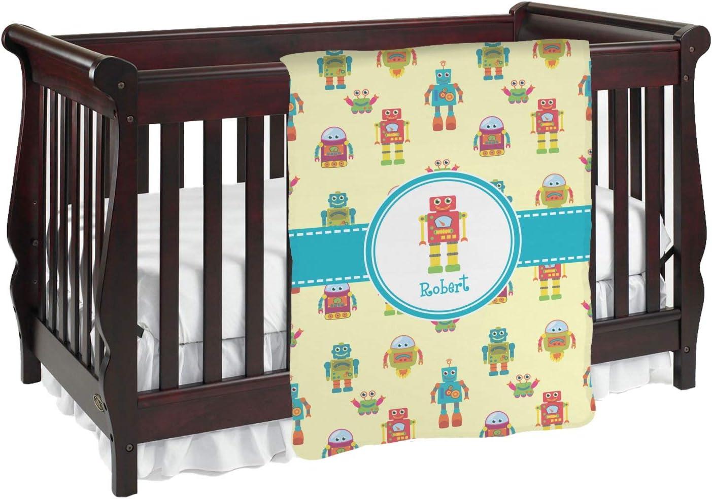 ロボットBaby Blanket ( Personalized ) Baby Blanket イエロー mi-baby-blanket-fb+63499