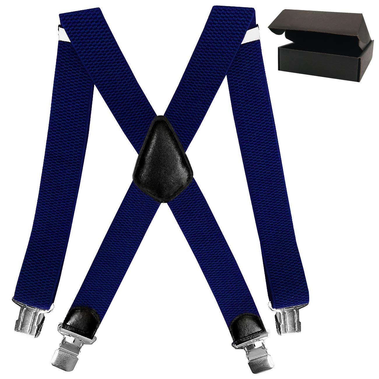 Hosenträ ger Herren - Verstellbare elastische Hosenträ ger und Hosenträ ger mit starken Clips elastische Herren-Hosenträ ger und Herren-Zahnspangen mit starken Clips