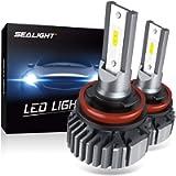 SEALIGHT H11 H8 H9 LED Headlight Bulbs, 60W 10000 Lumens 6000K White, Easy Installation, Low Beam H16 LED Fog Lights…