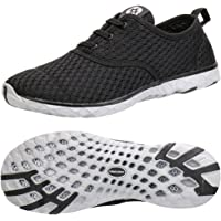 Aleader Men's Stylish Quick Drying Water Shoes Black 9 D(M) US