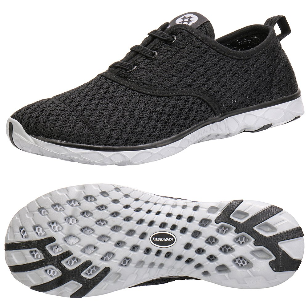 ALEADER Women's Stylish Quick Drying Water Shoes Black 9 D(M) US by ALEADER