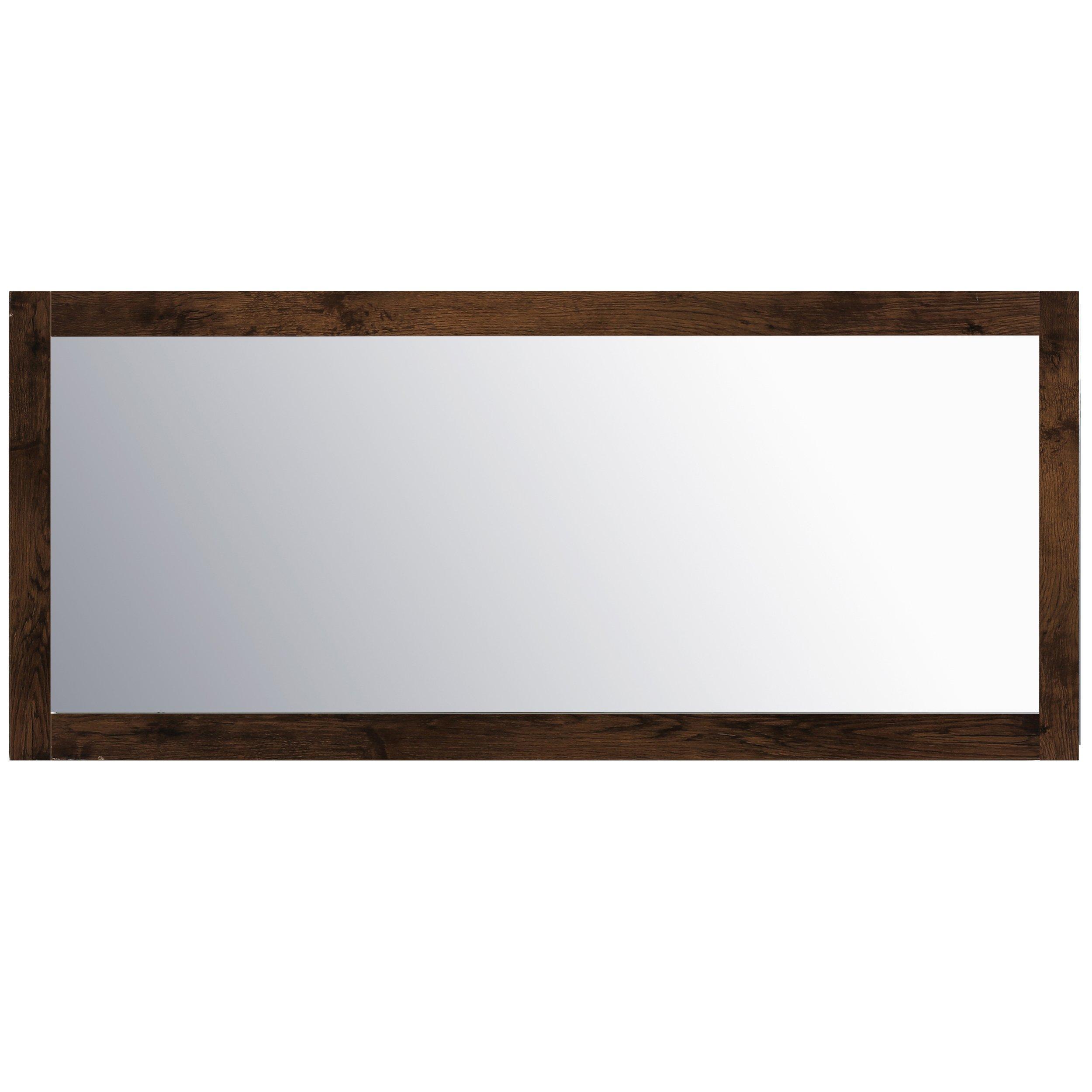 Eviva EVMR-72X30-RSWD Sun 72'' Mirror Combination, Rosewood
