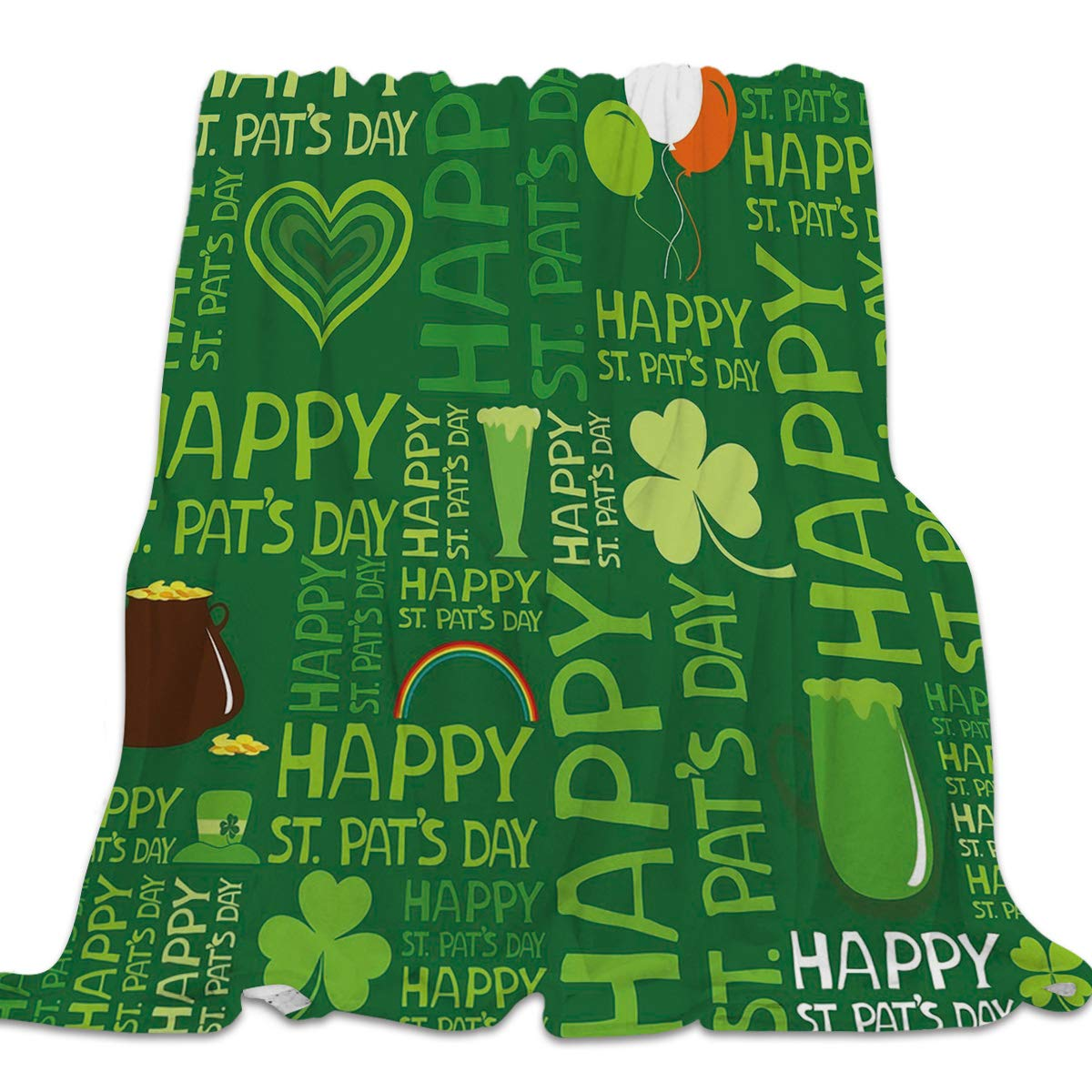 St. Patrick's Day6yag6267 39x49inch=100x125cm YEHO Art Gallery 39x49 Inch Flannel Fleece Bed Blanket Soft Throw-Blankets for Girls Boys,Failure Blackboard Pattern Grey,Lightweight Warm Kids Blankets for Bedroom Living Room Sofa Couch Home Decor