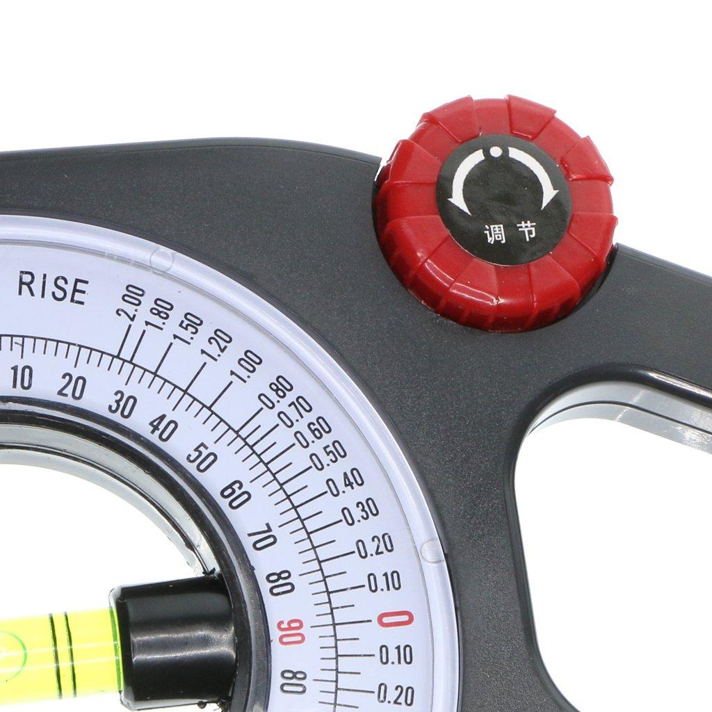 ideal f/ür Horizontal oder Vertikalmessungen Sharplace Neigungsmesser Winkelmesser Wasserwaage mit Gro/ße Blistermessung