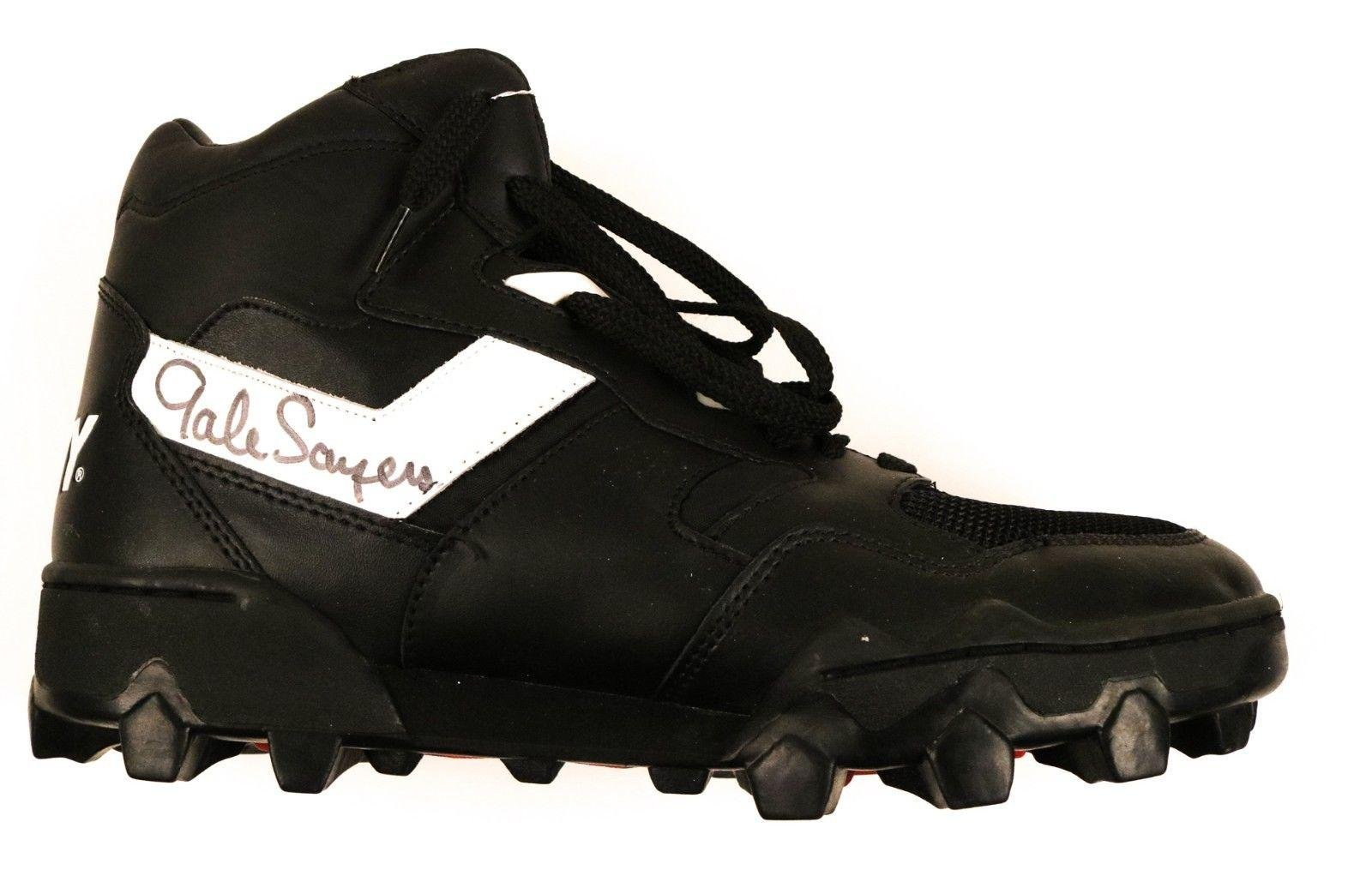 Gale Sayers Bears HOF Signed Pony Fury Shoe/Cleat COA JSA Certified Autographed NFL Cleats