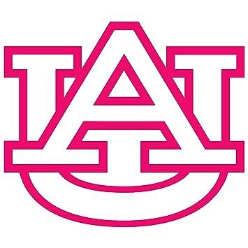 amazon com auburn tigers logo pink waterproof vinyl decal rh amazon com Cartoon Auburn Tiger Logo Auburn University Tiger Logo