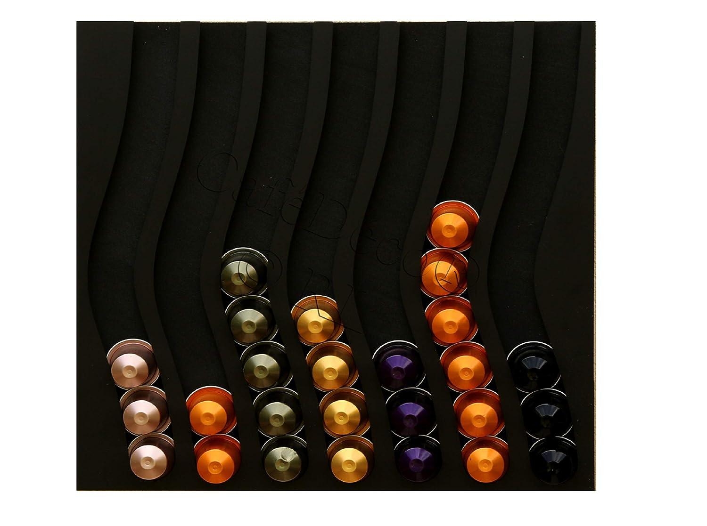 Dispensador de cápsulas nespresso, 70 cápsulas (negro): Amazon.es ...