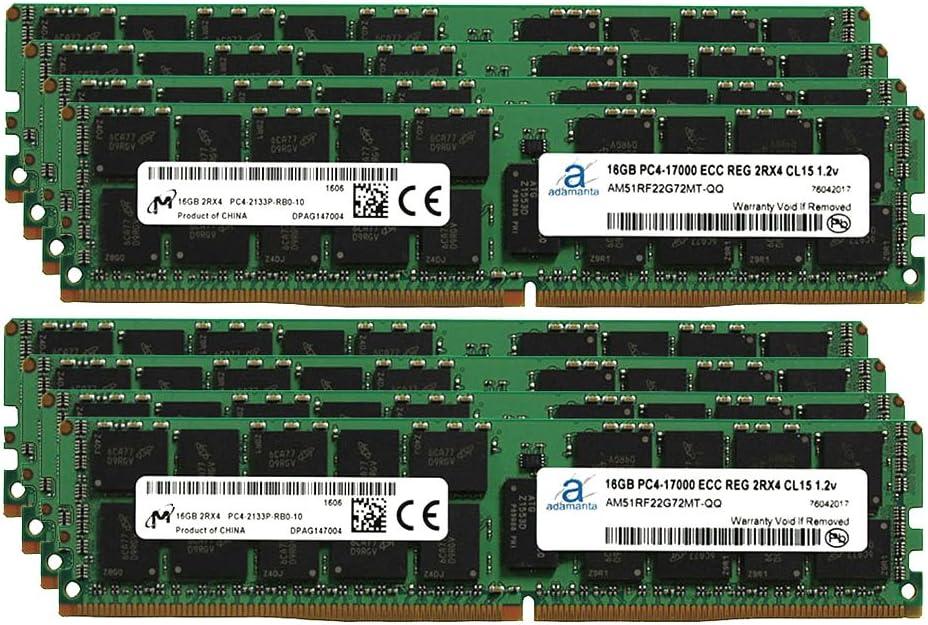 Adamanta 128GB (8x16GB) Server Memory Upgrade Compatible for HP Z840 Workstation DDR4 2133MHz PC4-17000 ECC Registered Chip 2Rx4 CL15 1.2v DRAM RAM