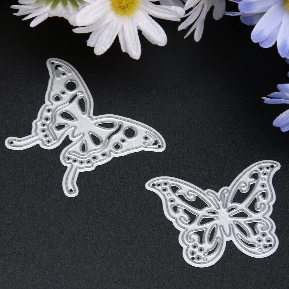 Demiawaking 2Pcs Metal Butterfly Cutting Dies for Card Making #7