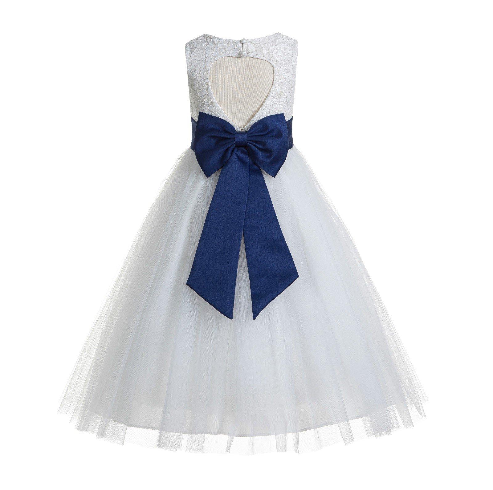 Navy blue and white dress for baby amazon ekidsbridal floral lace heart cutout white flower girl dresses holy communion dress baptism dresses 172t izmirmasajfo