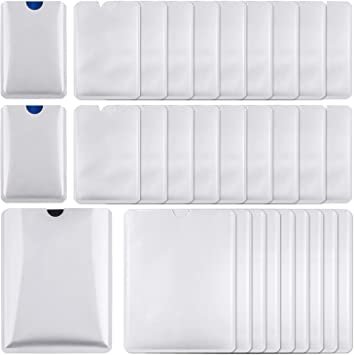 20Pcs Credit Card Holder Blocking Anti Theft Protector RFID Secure Sleeve Case