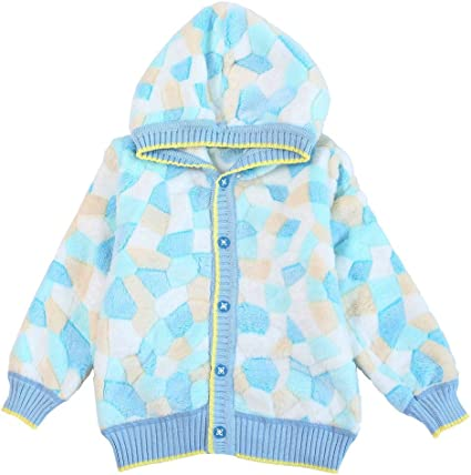 Happy childhood Infant Baby Girls Boys Fleece Jacket Cartoon Long Sleeve Cardigan Sweater Soft Warm Casual Knitwear