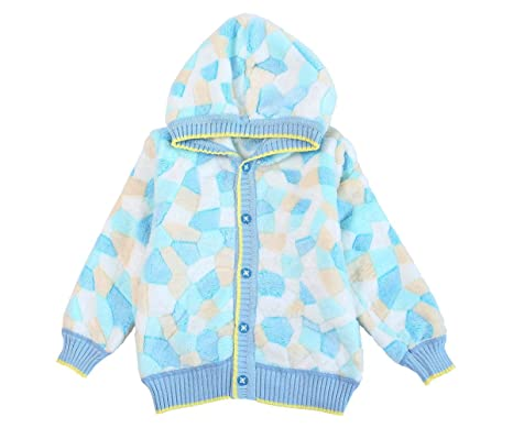 6263abfb4322 ZHUANNIAN Baby Toddler Boys Girls Hooded Fleece Jacket Button Down ...