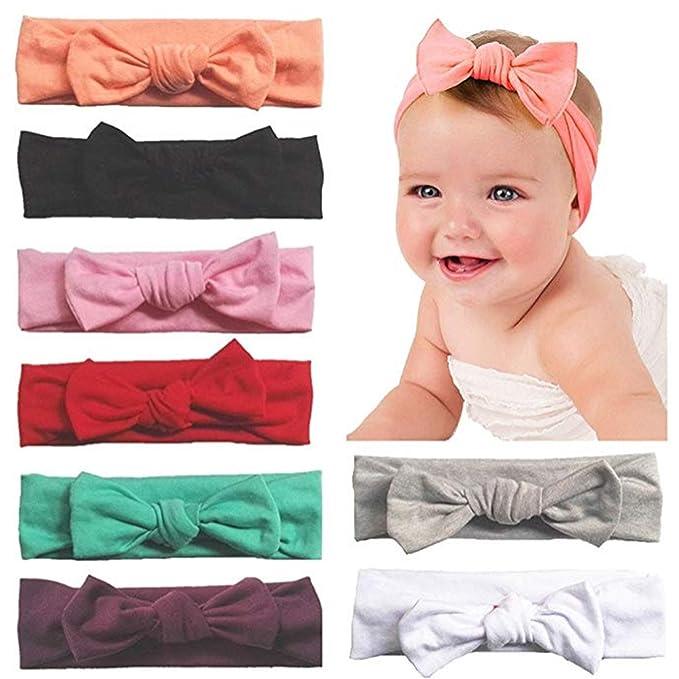 Baby Kids Girls Bow Rabbit Ear Hairband Headband Turban Knot Head Wraps Baby Headwear for Kids