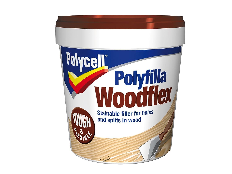 Polycell WFLEX600S 600ml Woodflex Polyfilla Tub PLCWFLEX600S B000TAT7NC