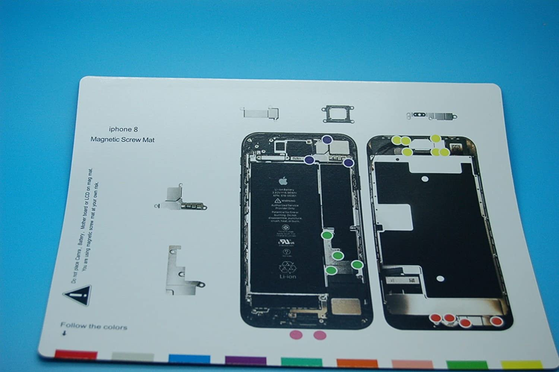 for iPhone 7 DonkeyEmma Magnetic Project Mat for iPhone 7 Plus//7 Screw Mat Repair Guide Pad Screw Keeper Chart Map Professional Guide Pad Repair Tools