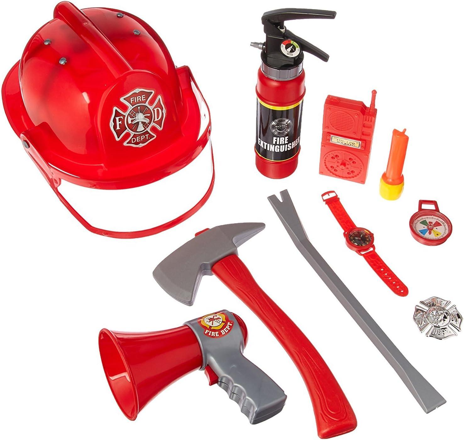 Amazon.com: Disfraz de bombero con 10 piezas, juego de roles ...