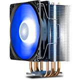 DEEPCOOL GAMMAXX400 V2 Blue CPU Air Cooler with 4 Heatpipes, 120mm PWM Fan and Blue LED for Intel/AMD CPUs (AM4…