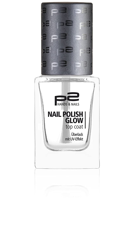 p2 cosmetics Nail Polish Glow Top Coat, 3er Pack (3 x 10 ml) NPNN078/010-10