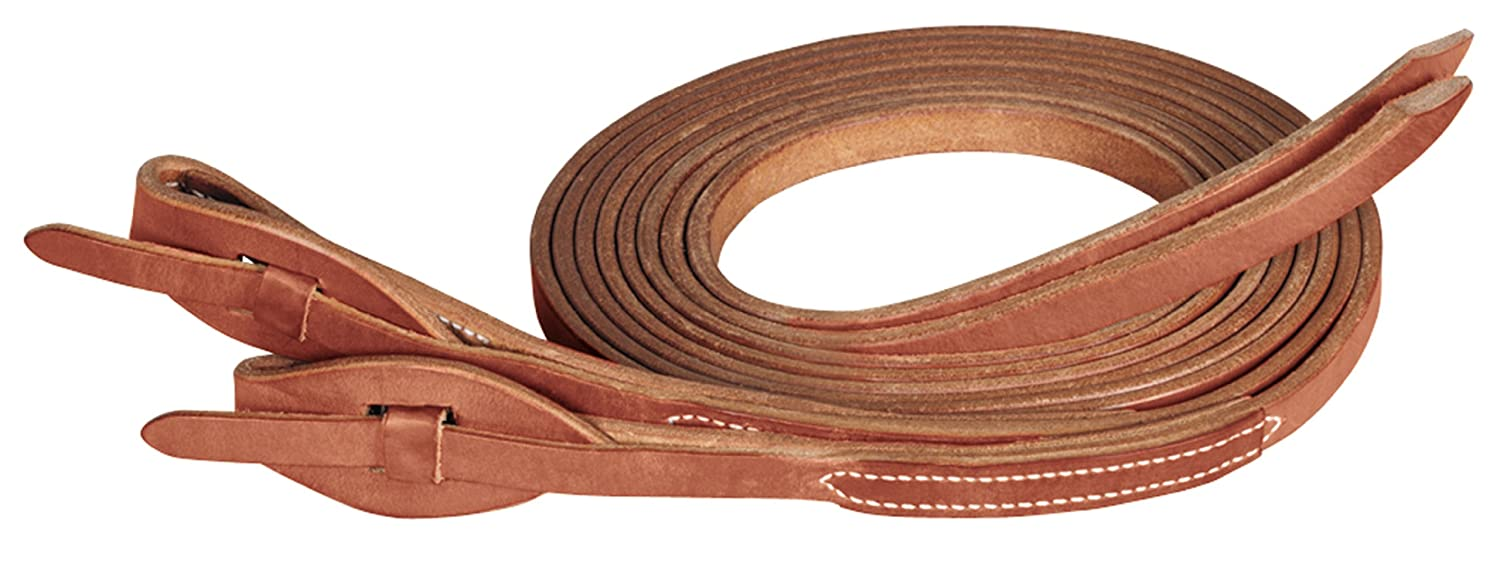 Weaver Leather Protack Quick Change Split rein Features Leather Tab Bit Ends, Marronee