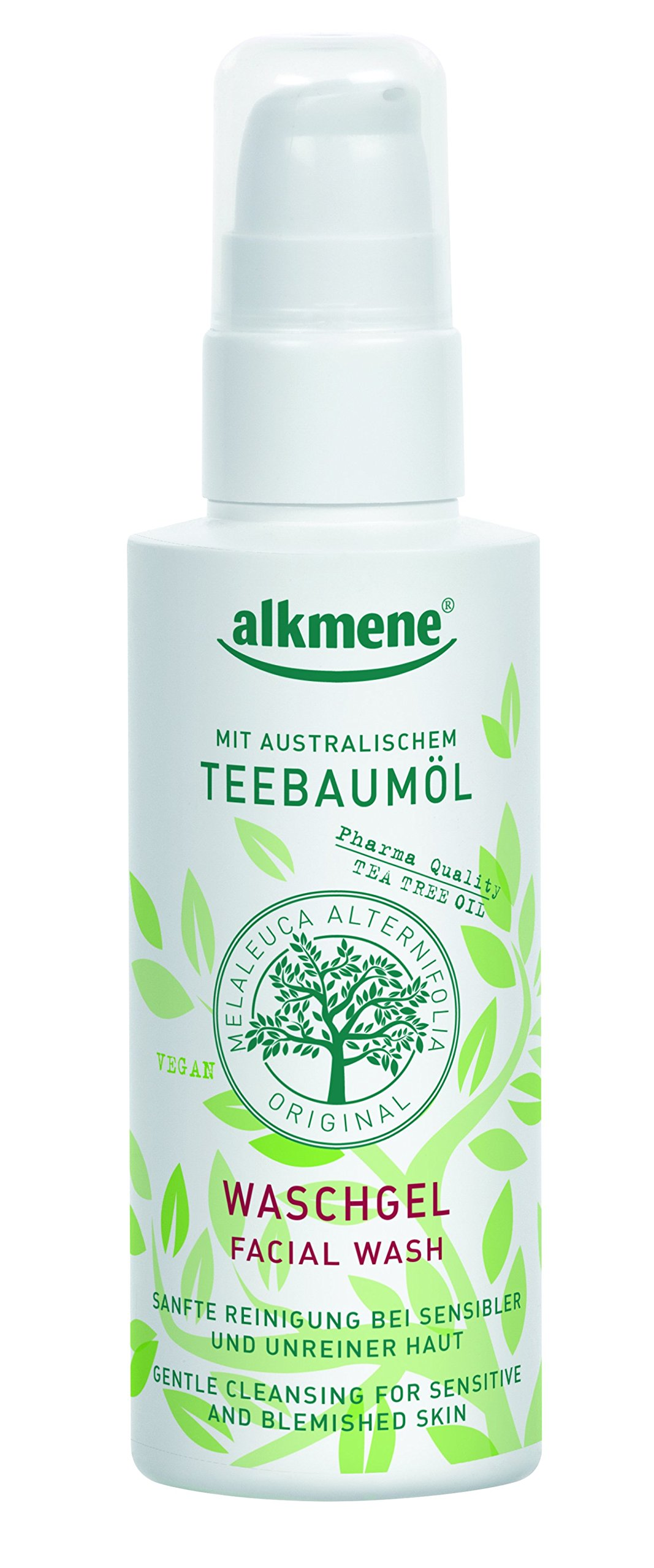 Tea Tree Oil Facial Wash Imported from Germany Vegan Paraben Free Detoxifying Face Cleanser For Oily Acne Prone & Sensitive Skin With Pharmaceutical Grade Tea Tree Oil 150 ml By Alkmene