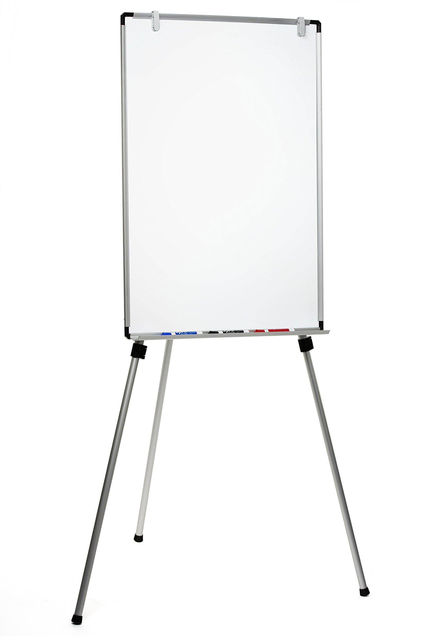 Magnetic Dry-Erase Board Lightweight Aluminum Flip Chart Presentation Easel (23'' x 34'')