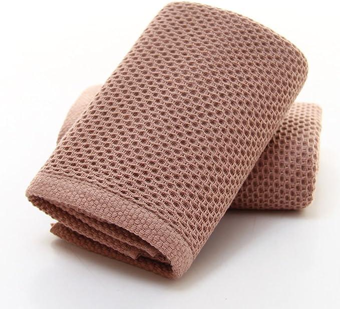 rosso, grigio, marrone, beige CHRISLZ/ 4-pack/ Asciugamani in cotone 100/%/ Asciugamano di puro colore/ Washcloth a forma di nido dape/ Asciugamani per il viso/ 4 colori