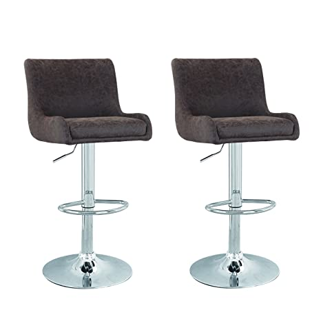 Marvelous Asense Contemporary Cozy Adjustable Bar Counter Stools Set Of Two 360 Degree Rotation Dark Brown Machost Co Dining Chair Design Ideas Machostcouk