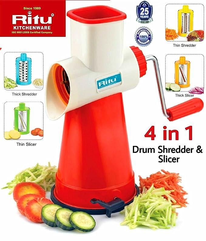 Ritu Drum Slicer and Shredder 4 in 1 Graters & Slicers at amazon