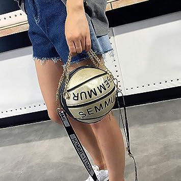 WEISHAZI Bolso bandolera de baloncesto con forma de balón de fútbol, correa ajustable para mujeres y niñas dorado: Amazon.es: Hogar