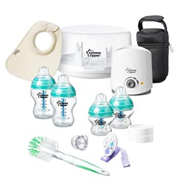 Tommee Tippee Advanced Anti-Colic Newborn Baby Bottle Feeding Set Heat Sensing
