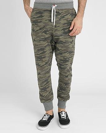 SWEET PANTS - - Homme - Pantalon de Jogging Camouflage Kaki Terry Loose  pour homme - 5199d7230bb