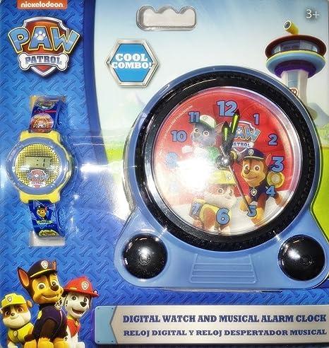 Reloj digital y despertador musical Paw Patrol la Patrulla Canina