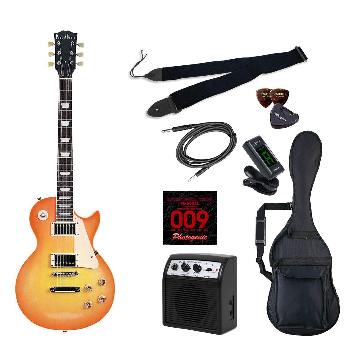 PhotoGenic エレキギター 初心者入門ライトセット レスポールタイプ LP-260/HB ハニーバースト B01GCPBZB4  ハニーバースト