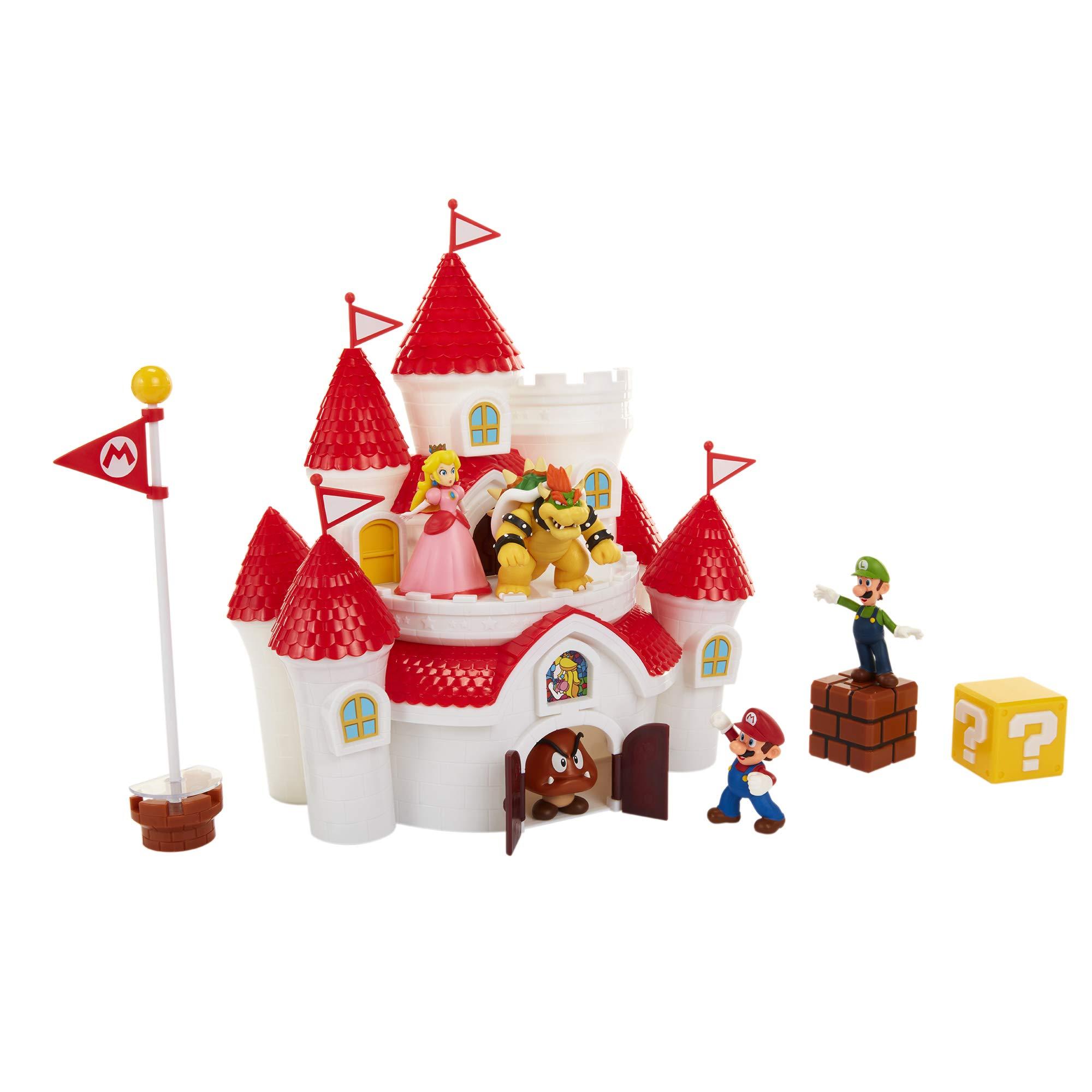 Nintendo Super Mario Deluxe Mushroom Kingdom Castle Playset with 5 Figures & 4 Accessories by Nintendo (Image #4)