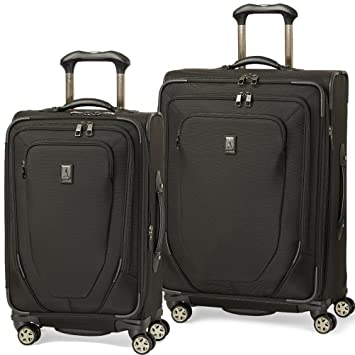 bd7e425804d2 Travelpro Crew 10 2 Piece Spinner Luggage Set 25 and 21 (One Size, Black)