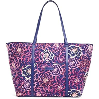 64b5aa50e13d Image Unavailable. Image not available for. Color  Vera Bradley Trimmed Vera  Tote Katalina Pink
