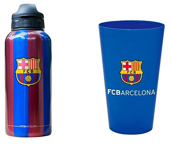 FC Barcelona botella 350 ml botella deporte FC Barcelona Messi Suarez Plus vidrio: Amazon.es: Hogar