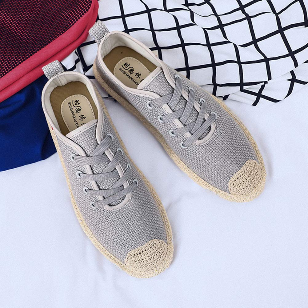 Plano de Las Alpargatas de Lona de los Hombres de Placas Zapatos Ocasionales de los Deportes de los Zapatos Corrientes de Baja Top Trainer Transpirable Zapatillas de Deporte