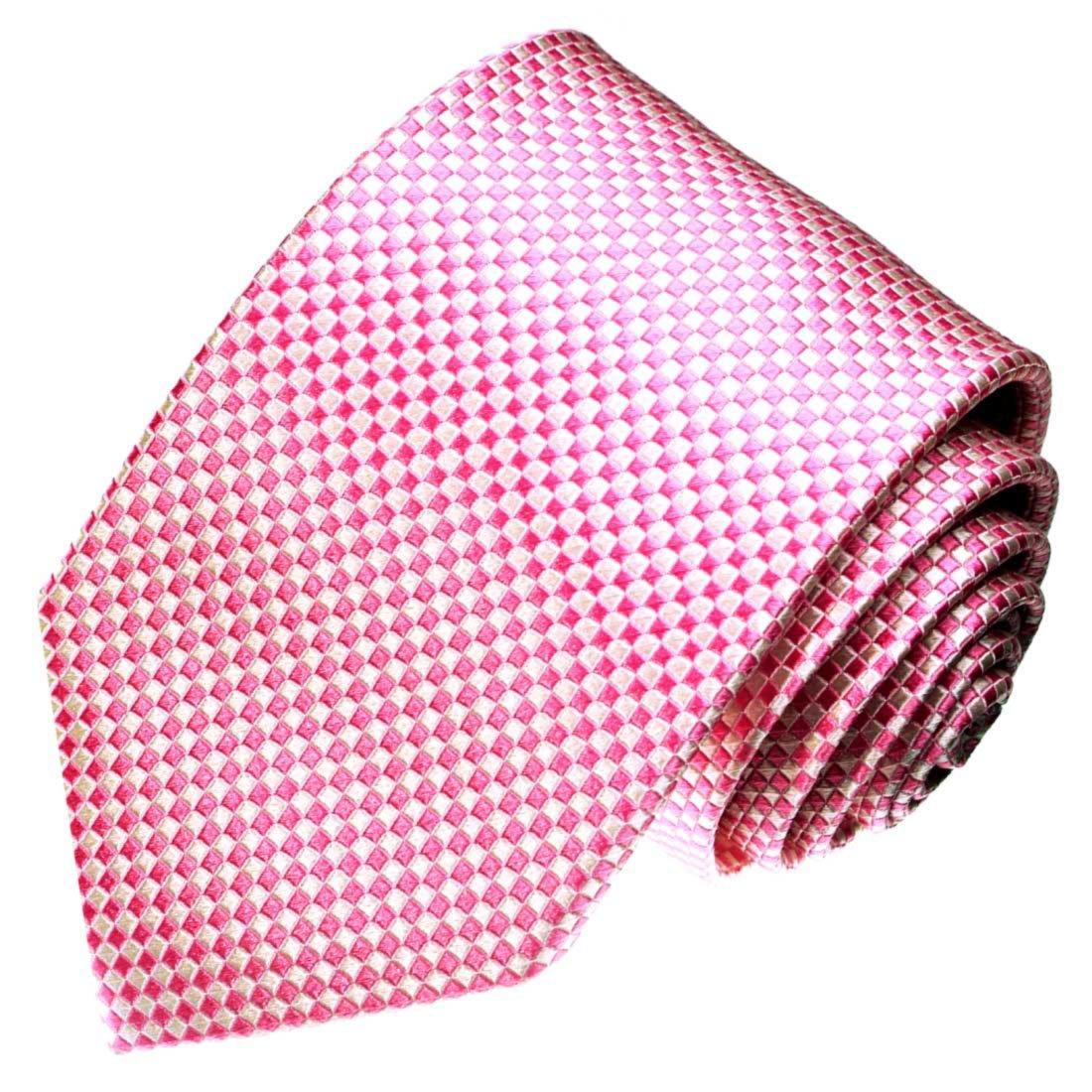 LORENZO CANA - Marcas corbata de seda 100% seda, color rose y ...
