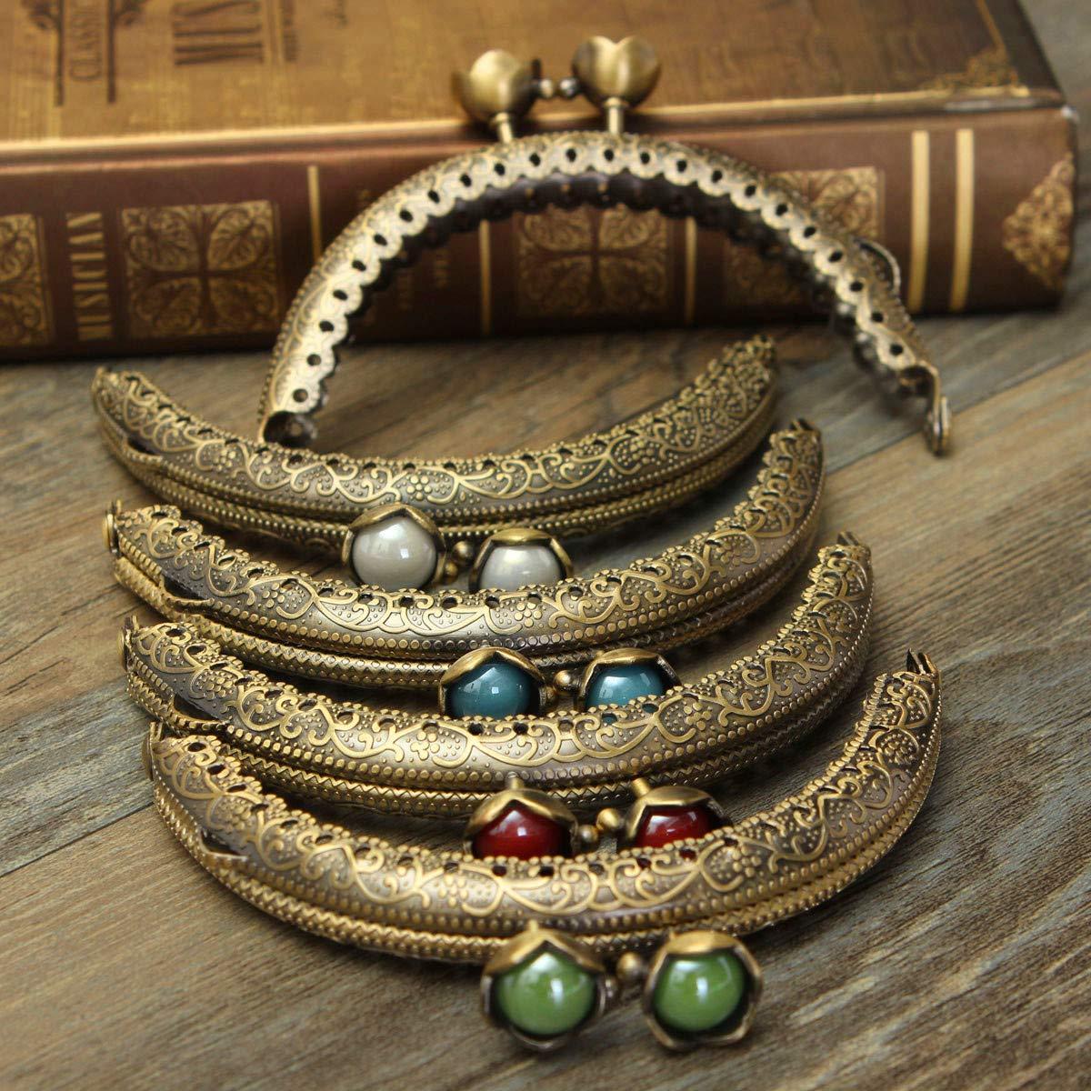 KING DO WAY Conjunto de 5 piezas de la bolsa de cierre/carteras, Cierre Antica para el bricolaje 6cm x 8.5cm (6cm x 8.5cm)